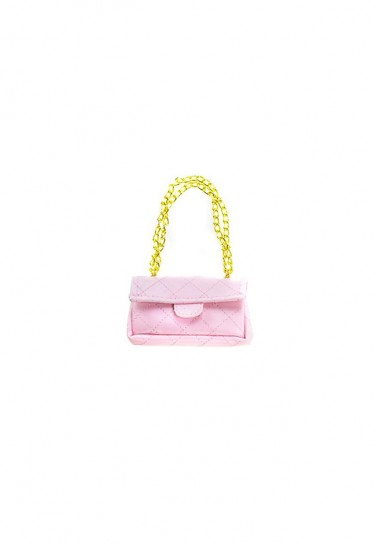 LIGHT PINK PURSE WITH GOLD...