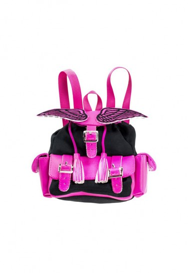 PINK BLACK BACKPACK WITH...