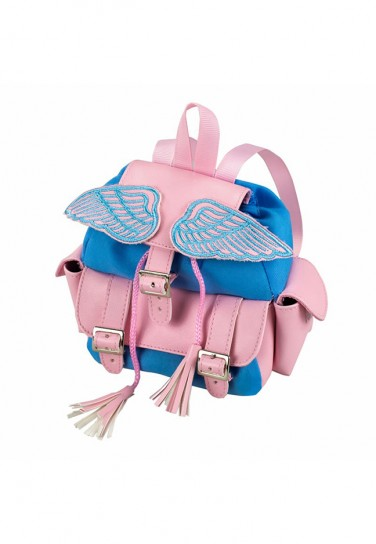LIGHT PINK BLUE BACKPACK...
