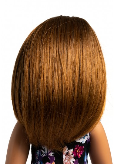BROWN MIDDLE LENGTH WIG FOR...