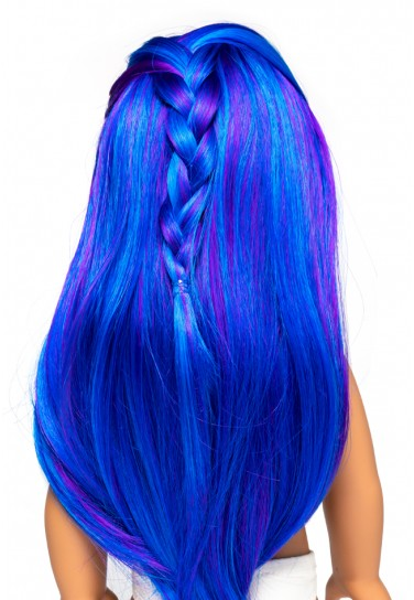 BLUE LONG WIG FÜR I'M A GIRLY