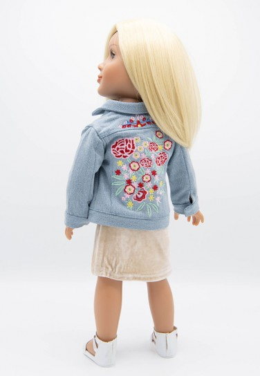 DENIM FLOWER JACKET