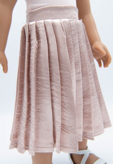 LIGHT PINK PLEATED SKIRT