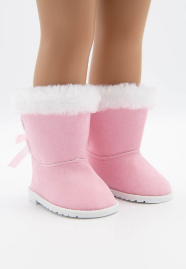 LIGHT PINK SHEARLING BOOTS